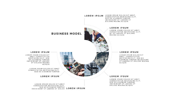 Infographic Business Model Presentation for PowerPoint Template Slide 1