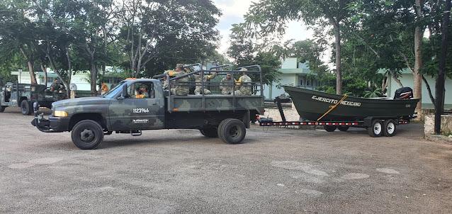 Imágenes del personal perteneciente al 7/o. Batallón de Ingenieros de Combate que arribó a las instalaciones del 20 Regimiento de Caballería Motorizada Valladolid