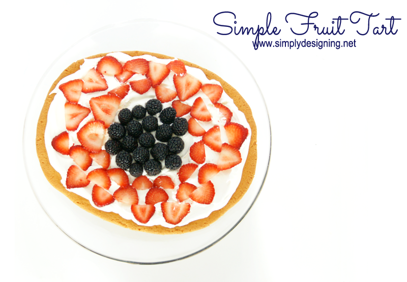 Simple Fruit Tart | this is so simple,even a child can do most of it!  Definitely pinning for later! | #recipes #dessert #fruit #tart