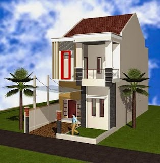 Contoh Desain Rumah Minimalis 2 Lantai Type 45 Terbaik