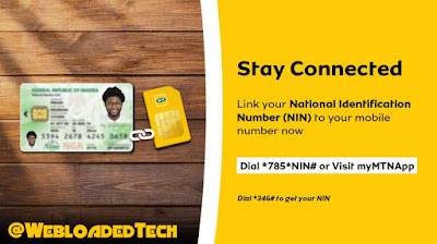 How To Link National Identity Number [NIN] To Mtn Network with Mobile phone