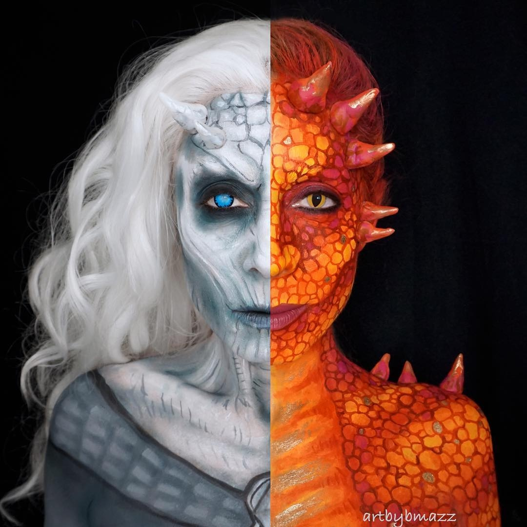 05-Ice-and-Fire-Brenna-Mazzoni-Body-Paint-Fx-Makeup-Transformations-www-designstack-co