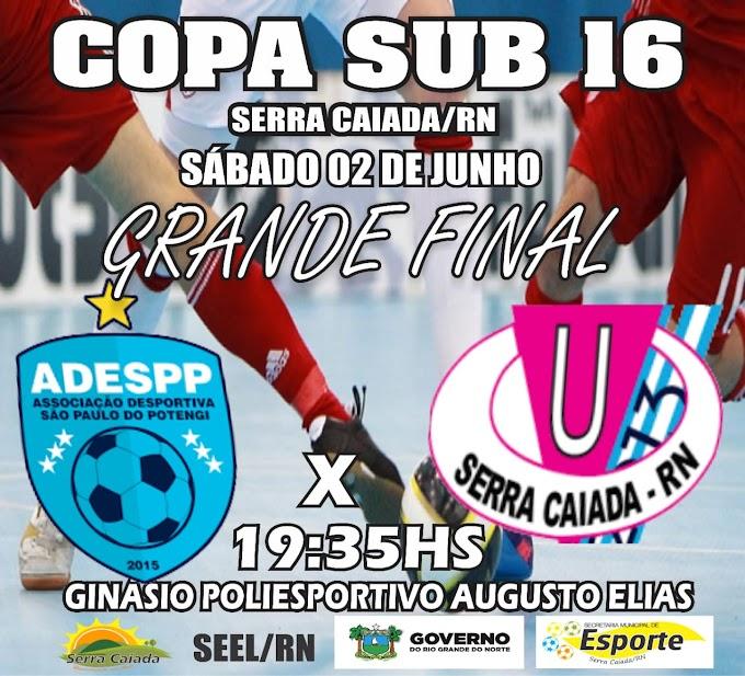 Equipe sub-16 da ADESPP joga grande final neste sábado dia 02 de junho em Serra Caiada/Rn