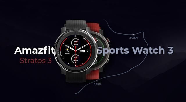 Xiaomi Amazfit Sports Watch 3 - O Novo Stratos