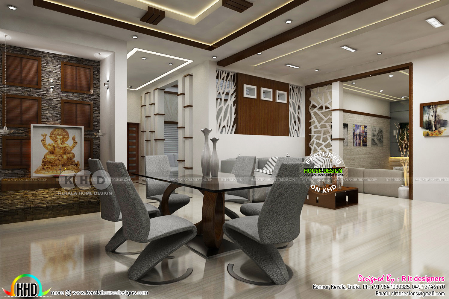 Modern interior design works in kerala kerala home - Modern house interior design ...