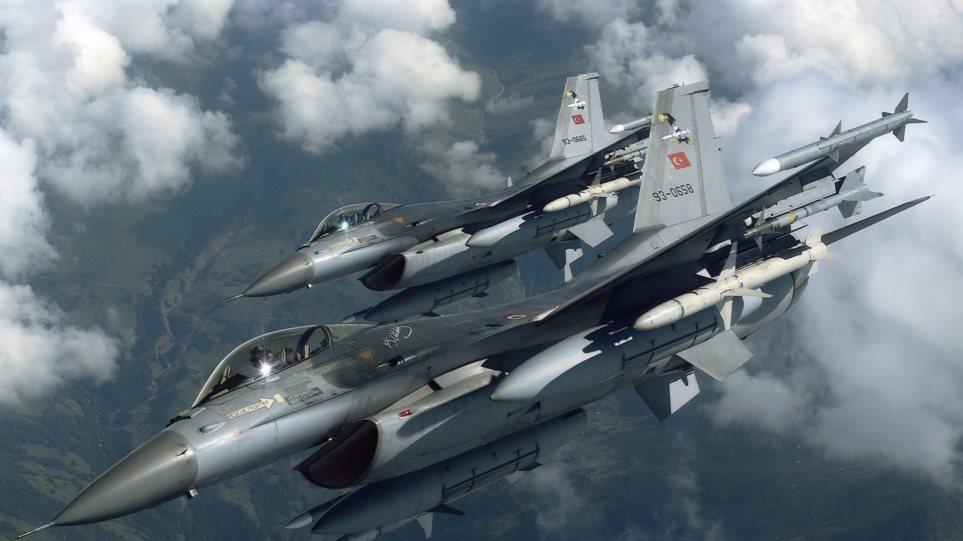 Τριάντα παραβιάσεις του εναέριου χώρου από τουρκικά μαχητικά