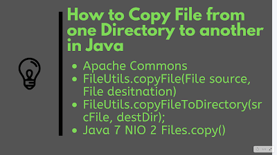 How to copy Files from one directory to other in Java