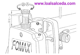 Regulación presión prensatelas maquina de coser industrial