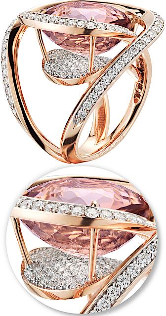 Paolo Costagli 18ct rose gold tourmaline diamond ring #brilliantluxury
