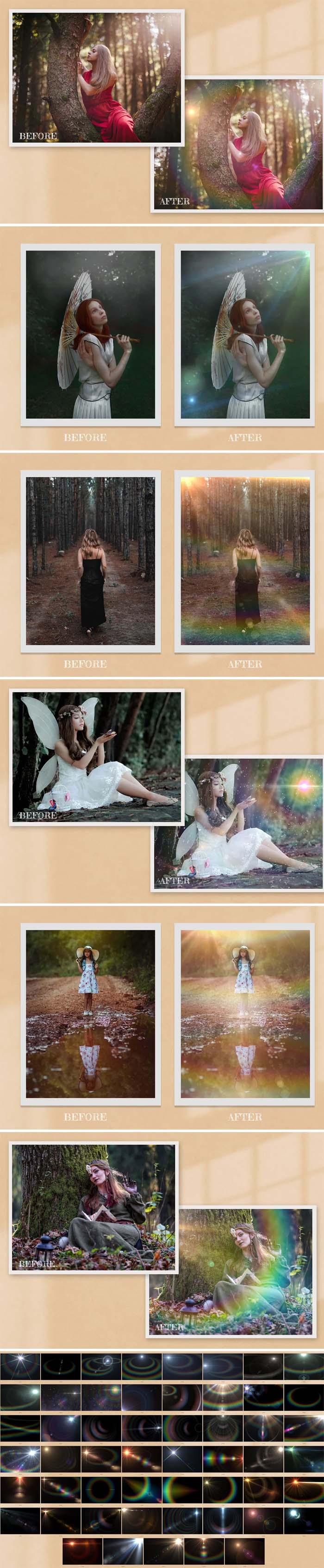 CreativeMarket - Sun Halo Photo Overlays Backdrops