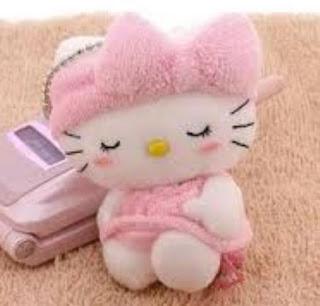 Gambar Boneka Hello Kitty Sedang Tidur Boneka Lucu
