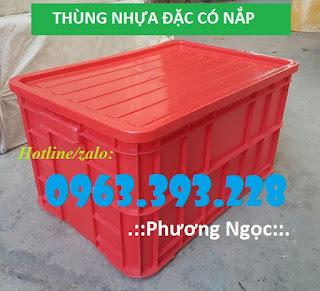 Thùng nhựa đặc cao 31 có nắp, thùng đựng phụ tùng cơ khí 79b8c9e4c3083a566319