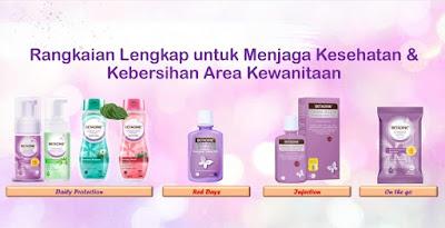 produk untuk merawat area kewanitaan