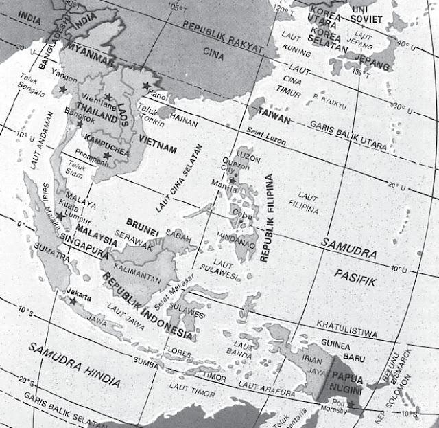 Bentang Alam, Letak Geografis dan Letak Astronomis Asia Tenggara, Batas Wilayah serta Negara-negara di Asia Tenggara