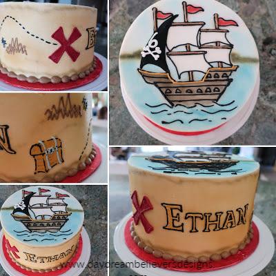 Awesome Pirate Birthday Cake DIY Boys Pirate Birthday Party