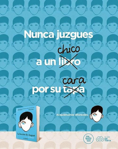 #HoyLeemos #LaLecciónDeAugust #AceptémonosDiferentes #NubeDeTinta #MeGustaLeer #NuncaJuzguesAUnChicoPorSuCara