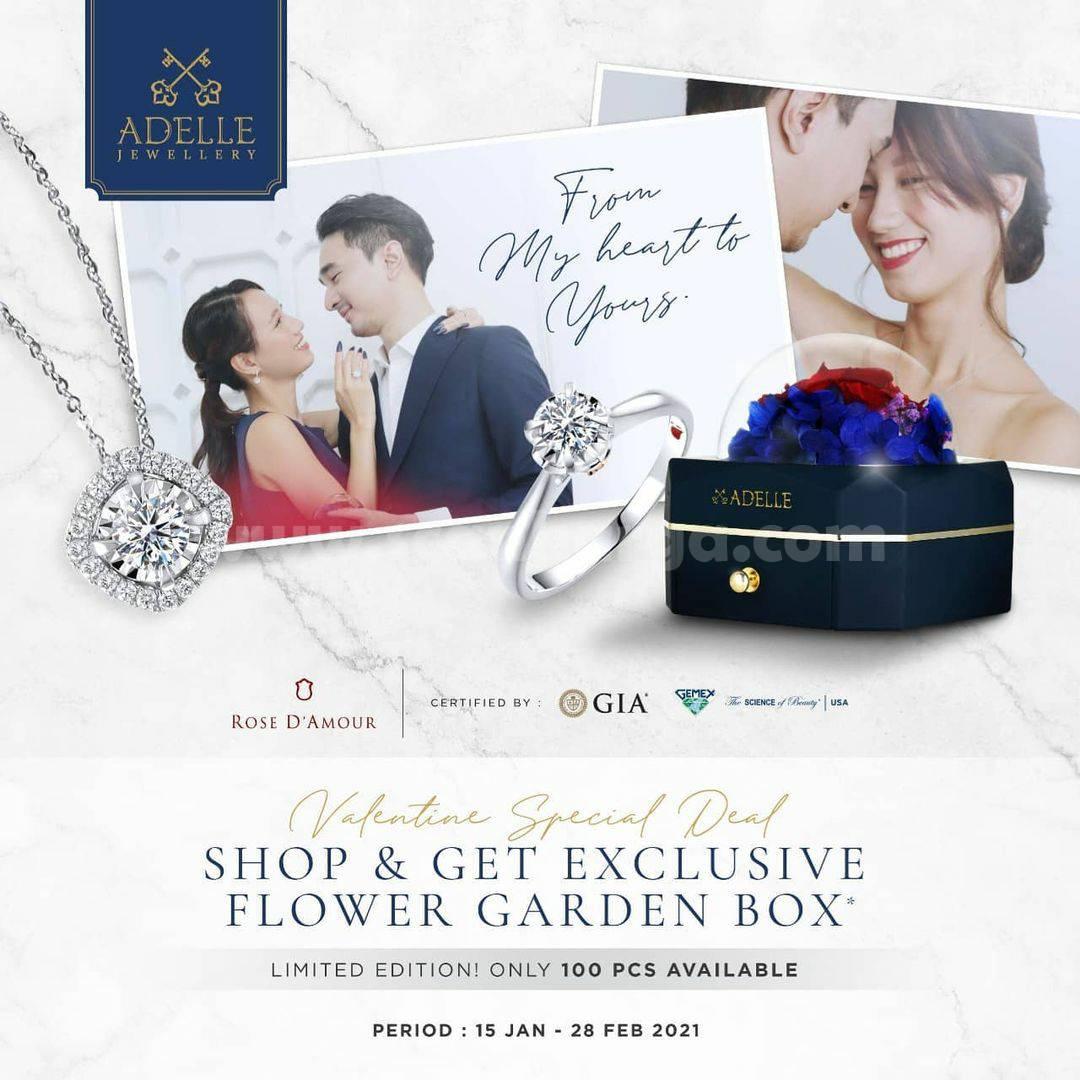 Adelle Jewellery Promo Valentine Special Deal! Shop & Get Exclusive Flower Garden Box