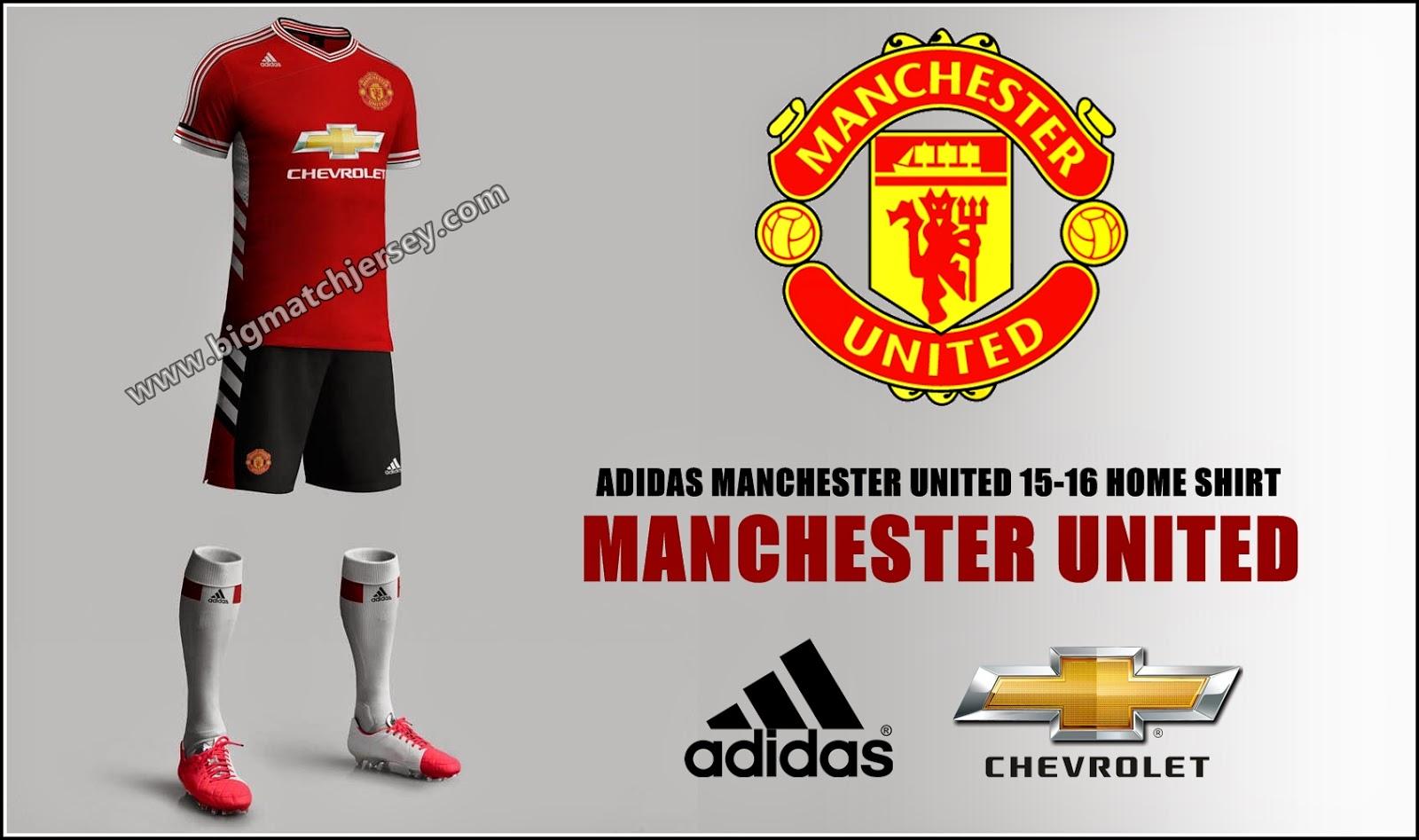 b29fec1556d New Jersey Manchester United Home 2015 2016 Big Match Jersey