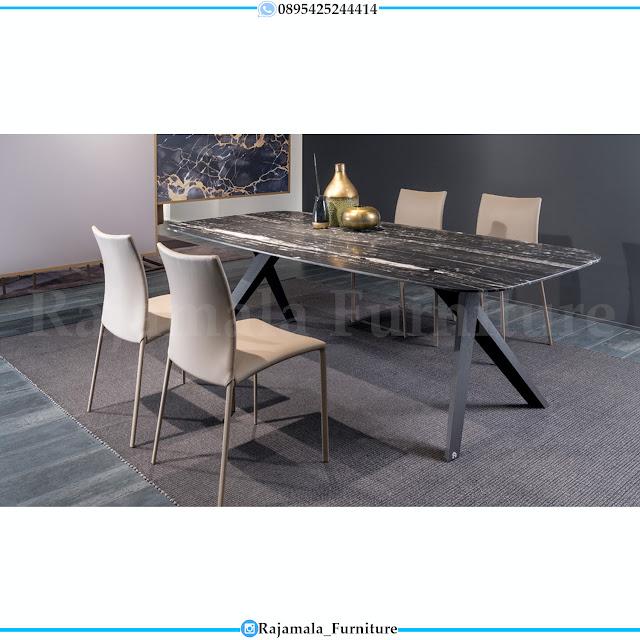 Meja Makan Minimalis Stainless Steel Furniture Jepara Modern RM-0310