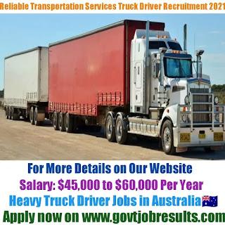 Reliable Transportation Services Pvt Ltd Truck Driver Recruitment 2021-22