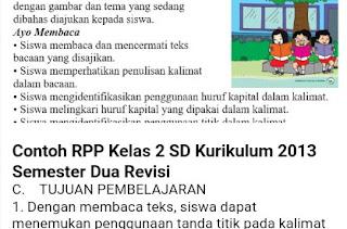 RPP KELAS 2 SD SEMESTER 2 KURIKULUM 2013 REVISI