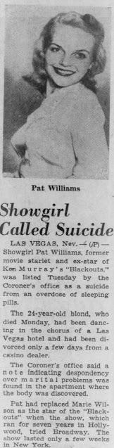 Pat Williams Suicide