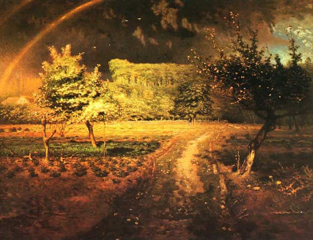 Жан Франсуа Милле - Весна в Барбизоне. 1873
