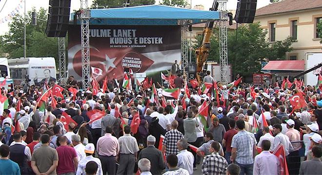 Başbakan Binali Yıldırım Diyarbakır'da Kudüs mitinginde konuştu