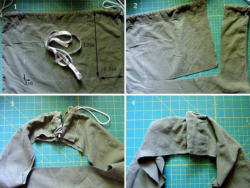 Army Laundry Bag Tutorial
