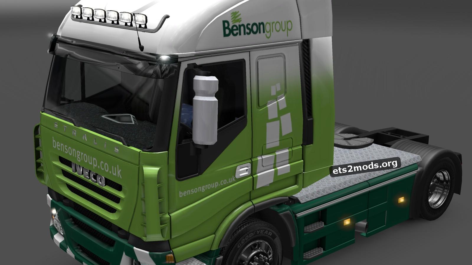 Benson Group Iveco skin mod