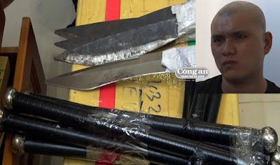 Quảng Ngãi: Triệt phá nhóm tội phạm, phát hiện vũ khí súng, lựu đạn