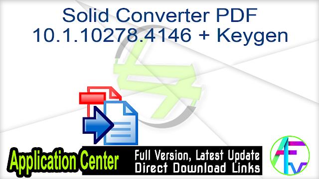 Solid Converter PDF 10.1.10278.4146 Multilingual + Keygen
