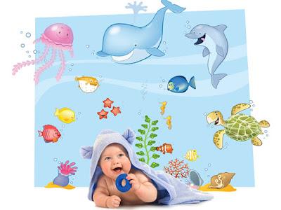 adesivi murali oceano