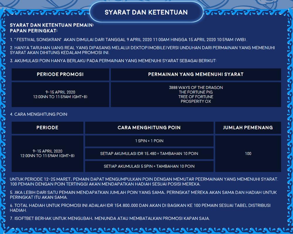 Turnamen Songkran di situs mpo2play