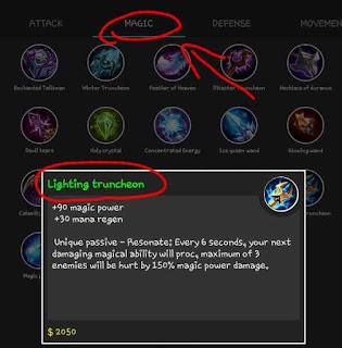 Lighting Truncheon bisa memberi demag selama 6 detik untuk 3 hero