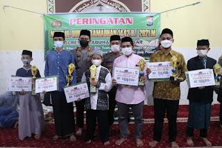 Perlombaan Tahfidz Alqur'an dan Dai Cilik Polres Pelabuhan Makassar, AKBP Kadarislam berikan Hadiah dan Penghargaan