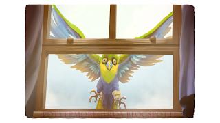 Uno degli uccelli tropicali che Sirius invia a Harry nel Calice di Fuoco