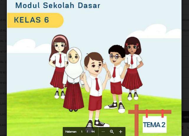 Modul Belajar dari Rumah untuk Kelas 6 Tema 2