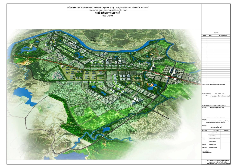 Phối cảnh quy hoạch tổng thể thị xã Hương Trà