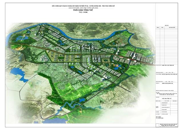 Phối cảnh quy hoạch tổng thể thị xã Hương Trà mới nhất