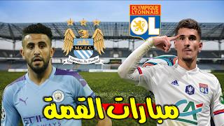 man city vs lyon champions league 2020