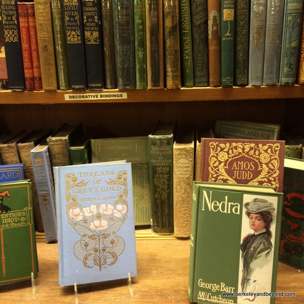 vintage books at Argosy Book Store in NYC