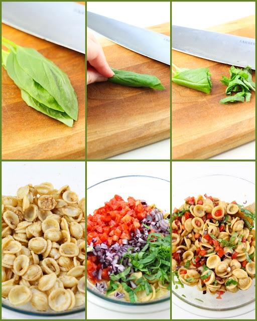 pasta salad process photo