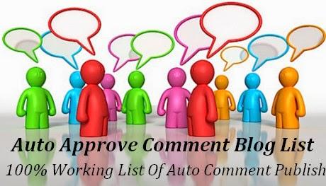 Auto Direct Appove Comments Dofollow Blog List