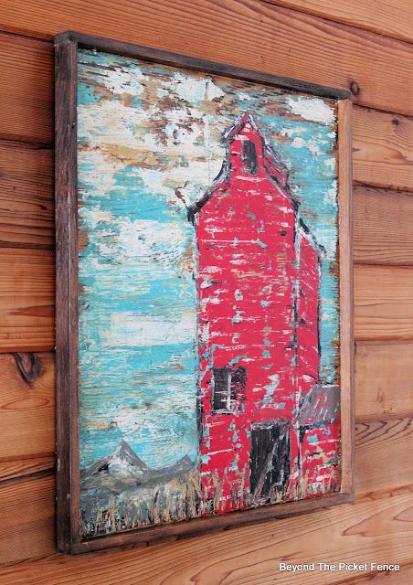 Rustic Grain Elevator Painting