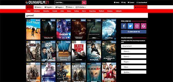 Link ganool situs download film
