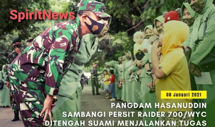 Ketua Persit Bersama Pangdam Hasanuddin, Silaturahmi ke Persit Raider 700/WYC