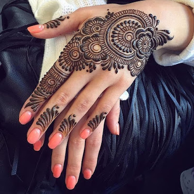 121 Simple mehndi designs for hands || Easy Henna patterns with