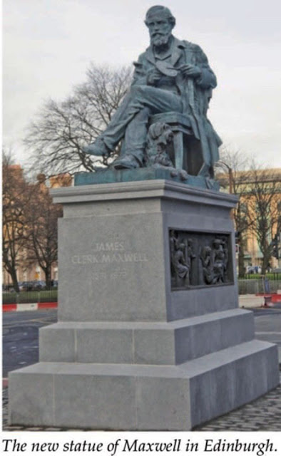 Statue of Maxwell in Edinburgh (Source: J. Rautio, IEEE Microwave Magazine)