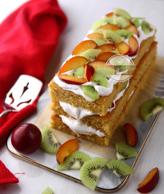 Resep Sponge Fresh Fruit Cake